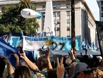 Día de la Lealtad Peronista: concentración en la Plaza de Mayo