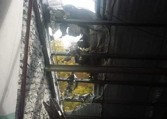 Se incendió el techo de la Media 7