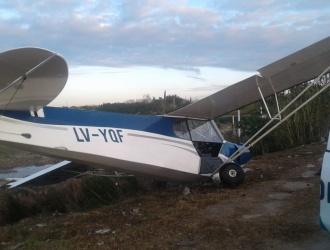 Se estrelló una avioneta en la colectora de la Autopista en Berazategui