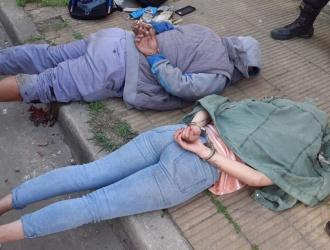 Ciudadela: robaron, maniataron a las víctimas y se tirotearon con la policía