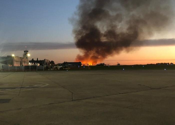 Incendio en la reserva
