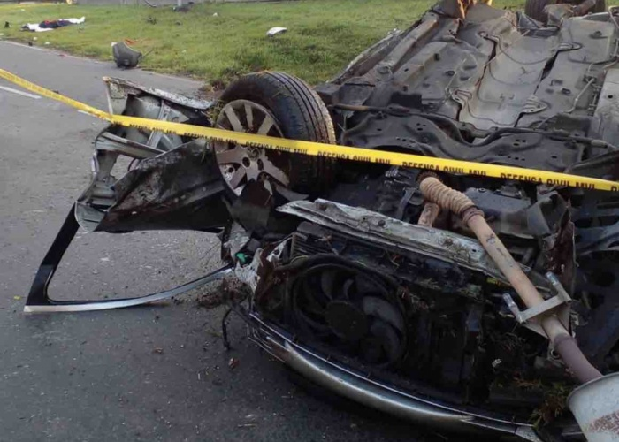 Impresionante choque en Panamericana: dos muertos y dos heridos de gravedad
