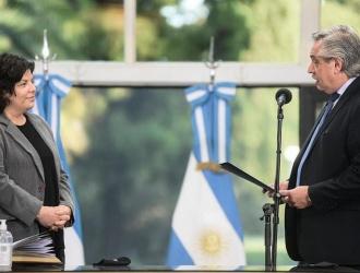 El Presidente le tomó juramento a Carla Vizzotti